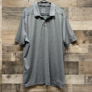 Nike Golf Dri Fit XL Polo Collared Shirt Striped